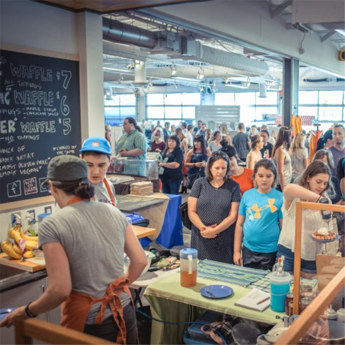 The St. John's Farmers' Market is a locale where people in the community can gather. Innovation at the market comes from a mix of people who have lived in Newfoundland all their lives, and people who have come from away.